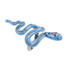 The charm of the snake - #NiikosKoulis hits out with a fashionable take on #finejewellery with a slinky #serpent set with white #diamonds, trillion diamonds, #blackdiamonds and a #ruby - £4,600