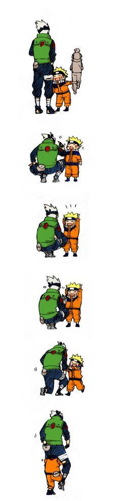 Naruto queriendo imitar a ese padre e hijo con kakashi (1 parte)