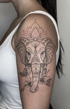 Elephant tattoos: Check out 40 amazing photos [Femininas e Masculinas] - I. - Elephant tattoos: Check out 40 amazing pictures [Female and Male] – I love tattoos - Forarm Tattoos, Dope Tattoos, Head Tattoos, Body Art Tattoos, Ink Tattoos, Tatoos, Hip Tattoos Women, Sleeve Tattoos For Women, Side Tattoos Women Quotes