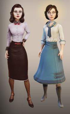 Yes, I will cosplay Elizabeth for sure this year! Shoot in an aquarium for Burial at Sea is planned. Bioshock Tattoo, Bioshock Game, Video Game Art, Video Games, Bioshock Artwork, Bioshock Infinite Elizabeth, Elizabeth Cosplay, Elizabeth Comstock, Teenage Warhead