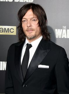 Norman Reedus attends AMC's 'The Walking Dead' Season 6 Fan Premiere Event 2015 at Madison Square Garden on October 9, 2015