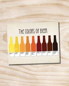 craft beer poster typography the colors of by PaperHeartCompany