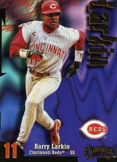 RARE 1998 SKYBOX THUNDER BARRY LARKIN CINCINNATI REDS MINT