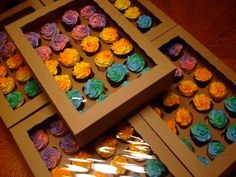 Buy Your Premium Cupcake Boxes, Right Here!    We know you put a lot of time and effort into making sure your cupcakes are something special. After all, your cupcakes are a reflection of you. We feel the same way about our boxes. We want you to love your boxes too!    Our cupcake holders are custom designed to fit our cupcake boxes perfectly. They protect your sweet little sculptures from sliding around while making their way to happy mouths.
