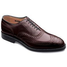 CAMBRIDGE - Wingtip Lace-up Mens Dress Shoes by Allen Edmonds in Burgundy Shell Cordovan for $595