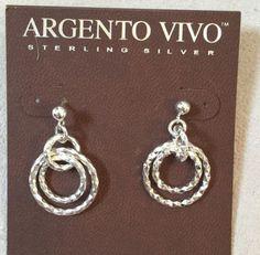 New Argento Vivo Sterling Silver Earrings $68.00 - http://designerjewelrygalleria.com/argento-vivo/new-argento-vivo-sterling-silver-earrings-68-00/