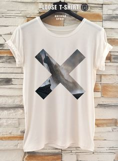 XX fashion  tshirt/white/black t-shirt /   Printed T-Shirt / cotton tshirt/ eco print tshirt/ loose tshirt/waisted shirt