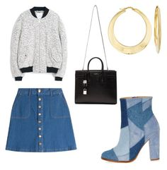 """""""Untitled #163"""" by giselaturca on Polyvore featuring MANGO, River Island, HUGO, Yves Saint Laurent, Ross-Simons, women's clothing, women, female, woman and misses"""