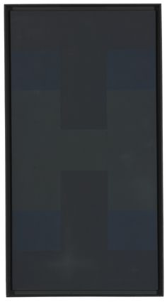 Ad Reinhardt (1913 - 1967)  BLACK  oil on canvas in artist's frame  Overall: 50 1/4 by 27 in. 127.6 by 68.6 cm.  Executed circa 1954.