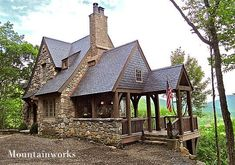 stone house plans story tiny house cabins and cottages small house nice small cottage never Stone Cottages, Small Cottages, Cabins And Cottages, Stone Houses, Log Cabins, Stone Cottage Homes, Rustic Cabins, Cute Cottage, Rustic Cottage