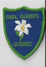Girl Guides Canada Patch - QUEBEC FLORAL PATCH