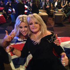 Bonnie Tyler - Eurovision Song Contest - 18/05/2013 -  With Krista (Finland) #bonnietyler #bonnietylereurovision #gaynorhopkins #gaynorsullivan #eurovision #uk #unitedkingdom #music #rock #thequeenbonnietyler #therockingqueen #rockingqueen #2013 #believeinme #krista #finland #malmo