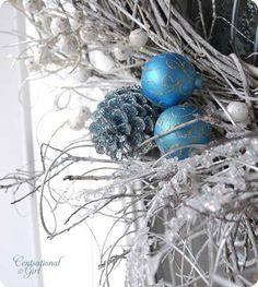 Winter White Willow Wreath from Centsationalgirl.com