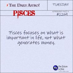 Daily Pisces Astrology Fact: Your sun sign (horoscope) only tells part of the story.  For a complete reading, you need a birth chart reading.   Visit iFate.com today!