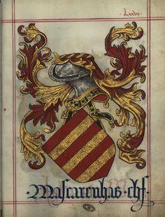 Livro do Armeiro-Mor - Brasão da família Mascarenhas