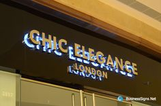 3D LED Backlit Signs With Mirror Polished Stainless Steel Letter ...
