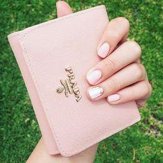 Prada Wallet Purse + Pink White Beige Nail Art Gel Polish Gel Nail Art, Gel Nail Polish, Gel Nails, Prada Wallet, Purse Wallet, White Beige, Pink White, Beige Nail Art, Gel Polish Colors