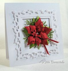 Spellbinders Fleur de Lis Square and Layered Poinsettia never looked lovelier!
