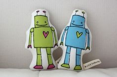 MINI Robot Doll by LittleKorboose on Etsy, $15.00