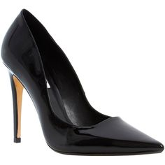 Dune Brook Ultra Slim Heel Extreme Pointed Toe Court Shoe, Black (3,285 MKD) ❤ liked on Polyvore featuring shoes, pumps, heels, sapatos, chaussures, black stiletto pumps, black pointy-toe pumps, black pointed toe pumps, heels stilettos and black pointed pumps