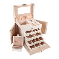 Multi-layers Jewelry Box with Small Storage Box