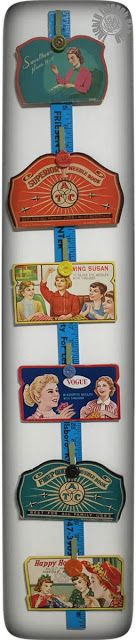 Vintage Needle Book Case Display by Thistle Thicket Studio