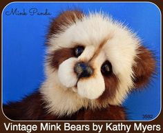 Vintage Mink Bears by Kathy Myers