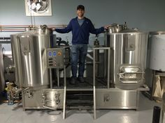 Our friends at Revelation Craft Brewing Company in Rehoboth Beach, Delaware are all set up with their Portland Kettle Works Hopmaster nano brewery system #craftbeer #nanobrewery #brewingsystem
