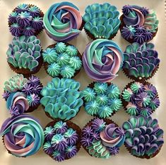 Mermaid Cupcakes by September's Cakes - www.findyourcakeinspiration.com