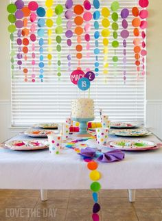 Polka Dot Birthday Party (Design Dazzle) - Decoration For Home Rainbow Parties, Rainbow Birthday Party, 1st Birthday Parties, Festa Do My Little Pony, Fiesta Little Pony, Polka Dot Birthday, Polka Dot Party, Polka Dots, Polka Dot Balloons