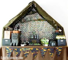 Army Camouflage Themed Birthday Party Planning Ideas via Kara's Party Ideas - www.KarasPartyIdeas.com-44