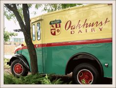 September 10th, 2012...The old Oakhurst Dairy milk-delivery truck, Forest Avenue