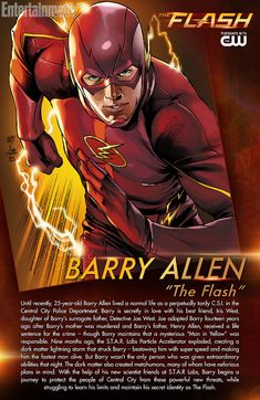 Get to know the man behind the mask with this The Flash character bio card, illustrated by renowned DC Comics artist, Ivan Reis! The Flash, Flash Art, Flash Characters, Character Bio, Flash Tv Series, Dr Fate, Flash Barry Allen, Iris West, Sketches