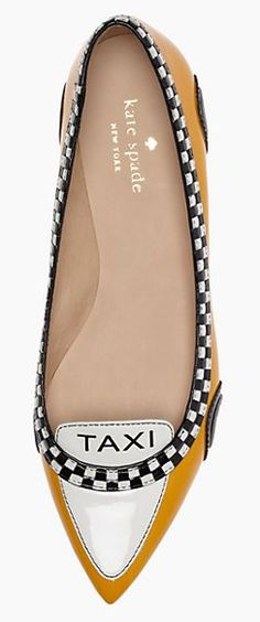 Gotta luv these 'Go taxi' flats by kate spade http://rstyle.me/n/qprz5nyg6