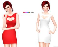 Sims 4 Updates: Leeloo - Clothing, Female : RED DRESS COLLECTION 7, Custom Content Download!