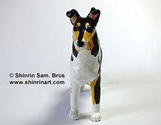 Unique Japanese brush and comic style pet art - Custom Pet Art: portraits of your dogs, cats and horses! Smooth Collie, Pet Art, Comic Styles, Penguins, Disney Characters, Fictional Characters, Horses, Japanese, Comics
