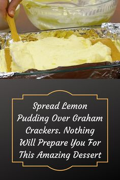 #Spread #Lemon #Pudding #Over #Graham #Crackers #Prepare #Amazing #Dessert Lemon Icebox Cake, Fun Desserts, Lemon Desserts, Wedding Heels, Almond Nails, Acrylic Nail Designs, Graham Crackers, Delicious Recipes, Yummy Food