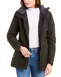 Rue La La — Helly Hansen Snowbird Jacket Rain Jacket, Bomber Jacket, Cold Weather Gear, Helly Hansen, Funnel Neck, Fur Trim, Color Patterns, Military Jacket, Faux Fur