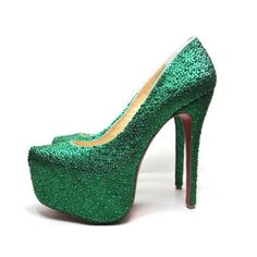 cheap Christian Louboutin Daffodile Aurora Boreale Pumps Green.Please click picture to buy and get more detail.