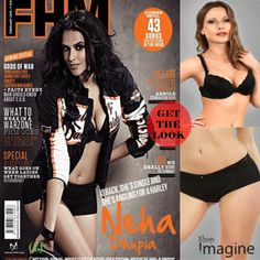 #nehadhupia set the FHM cover on fire appearing in a sexy biker look wearing a biker jacket with a black lacy bra & french knickers.  get the look here:  get the bra>http://goo.gl/Wrgt7  get the panty>http://goo.gl/xJ9AC