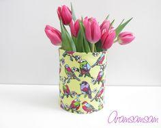Dose für Stifte, Blumen ★ Birds von Aramsamsam auf DaWanda.com