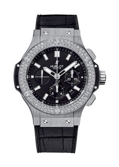 Big Bang Steel Diamonds 44mm Chronograph watch from Hublot