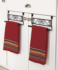Corner Shelf or Over-the-Door Towel Holders