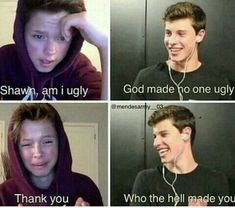 Dang Shawn mendes thats messed up Crazy Funny Memes, Really Funny Memes, Funny Relatable Memes, Haha Funny, Funny Jokes, Hilarious, Messed Up Memes, Best Butt Lifting Exercises, Shawn Mendes Memes