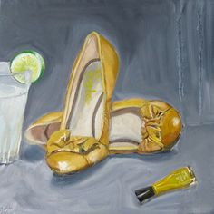Yellow shoes yellow nail paint & lemonade by mohitabhatnagar Yellow Shoes, Yellow Nails, Nail Polish Painting, Art Themes, Shoe Art, Nail Arts, Paintings For Sale, Canvas Art, Drawings