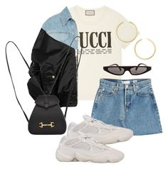 """""""Sans titre #926"""" by el-khawla ❤ liked on Polyvore featuring Gucci, RE/DONE, BaubleBar, Dolce&Gabbana and Unravel"""