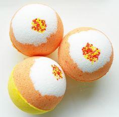 Candy Corn Bath Bombs.