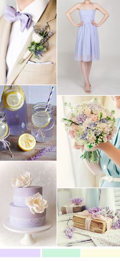 lilac wedding color ideas and short bridesmaid dresses for spring summer wedding 2016