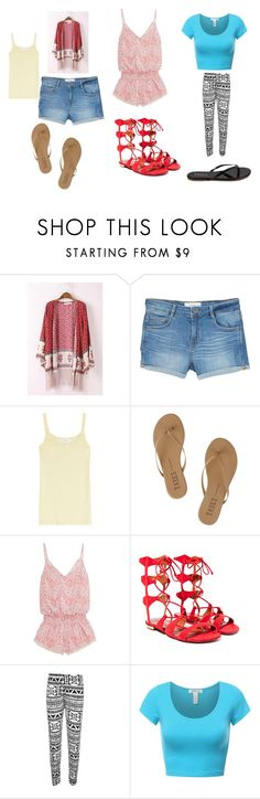 """""""casual"""" by colonkairee on Polyvore featuring MANGO, Velvet, Tkees, Paloma Blue, Schutz and WearAll"""