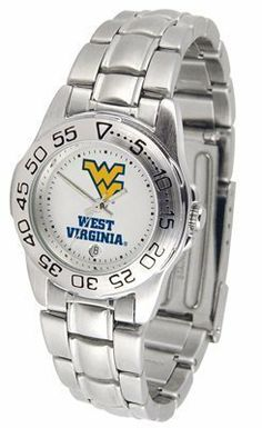 West Virginia Mountaineers Suntime Ladies Sports Watch w/ Steel Band - NCAA College Athletics by Sun Time/Links Warner. $49.95. The Ladies Sport Steel watch by Suntime features your favorite team logo in a European styled stainless steel case with a stainless steel strap and security buckle.. Save 29%!